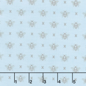 Garden Variety - Queen Bee Blue Sky Yardage