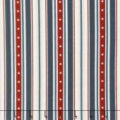 American Heritage - Stripe Navy Yardage