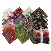 Cat-I-Tude Christmas Metallic Fat Quarter Bundle