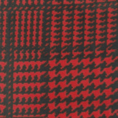 Winterfleece Prints Plaids and Checks - Houndstooth Plaid Red Yardage