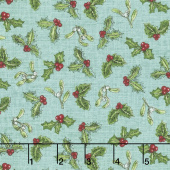 Spruce Mountain - Tossed Holly Turquoise Yardage