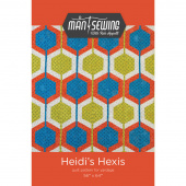 Man Sewing Heidi's Hexis Quilt Pattern