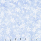 Welcome Winter - Snowflakes Light Blue Yardage