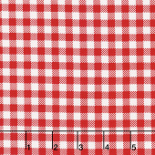 Bake Sale 2 - Gingham Red Yardage