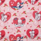 Kewpie Love - Main Pink Yardage
