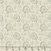 Jo's Shirtings - Floral Glory Parchment Charcoal Yardage