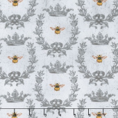 Le Bouquet - Queen Bee Gray Yardage