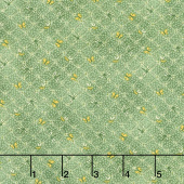 Best of Days - Flower Lattice Green Yardage