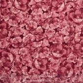 Poppies - Tonal Poppies Soft Red Yardage
