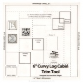"Creative Grids Curvy Log Cabin Trim Tool 6"" Finished Blocks"