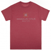 Missouri Star Bling Heather Cardinal T-Shirt - Small