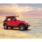 Jeep in the Wild - Jeep Red Digitally Printed Panel