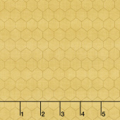 Bee a Keeper - Small Honeycomb Gold Yardage