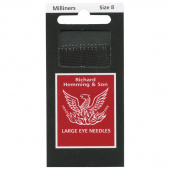 Richard Hemming Large Eye Sewing Needles - Milliners (Size 8)