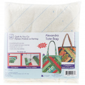 Alexandra Tote Bag Quilt As You Go Preprinted Batting
