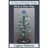 A Year of Wooly Trees Pattern - May Birds & Bees