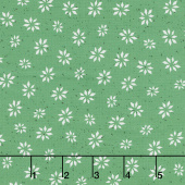 Warm Wishes - Snowflake Star Green Yardage