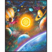 Stargazers - Planets Atmosphere Digitally Printed with Glitter Panel
