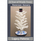 A Year of Wooly Trees Pattern - January Snowman