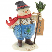 Jim Shore Heartwood Creek Keep Your Spirits Up Snowman Figurine