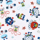 "Cuddle Prints - You Scared Me! Snow 60"" Minky Yardage"