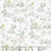 Cotton Muslin - Perfect Friends White Yardage