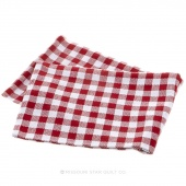 Tea Towel - Gingham Check Red/White