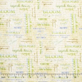 From the Garden - Word Toss Tan Yardage