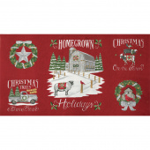 Homegrown Holidays - Farmhouse Red Panel