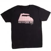Press to the Dark Side Medium Women's Fitted Crew Neck T-Shirt - Black