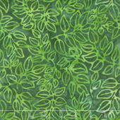 Artisan Batiks - Color Source 8 - Spindly Leaves Forest Yardage
