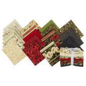 Gilded Blooms Metallic Fat Quarter Bundle