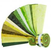 "Lava Batik Solids - Isle 2.5"" Strips"