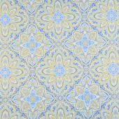 Blue Symphony - Medallion Cobalt Metallic Yardage