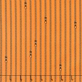 Old Made - Zipper Stripes Orange Yardage