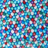 The Rainbow Fish - Bubbles Assorted Metallic Yardage