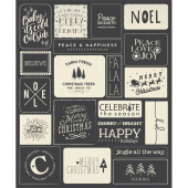Printworks Panels - Christmas Wishes Black Panel