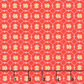 Vintage Happy 2 - Tulips Cayenne Yardage