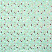 Little Ruby - Little Bows Aqua Yardage