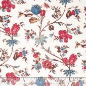 Hamilton - From Eliza Hamilton's Era c. 1770-1790 Main Floral Multi Yardage