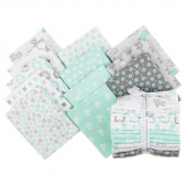 Cozy Cotton Flannels - Mint Fat Quarter Bundle