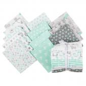 Cozy Cotton Flannels - Mint Fat Quarter Bundle