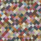 """Hopscotch - Squares Plum Digitally Printed 108"""" Wide Backing"""
