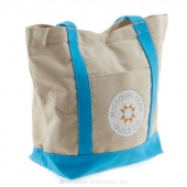 Missouri Star If At First You Don't Succeed Canvas Tote with Blue Handles