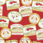 Bella Toscana - Labels Rosso Yardage