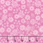 Top Drawer - Tonal Floral Baby Pink Yardage