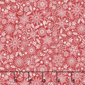Scandi - Trees Red Yardage