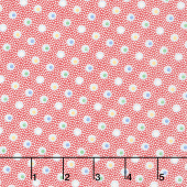 Aunt Grace's Apron - Double Dots Red Yardage
