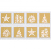 Winter's Grandeur 6 - Champagne Ornaments Champagne Metallic Panel