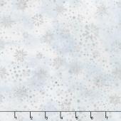 Artisan Batiks - Snowflakes 2 Dots Frost Metallic Yardage